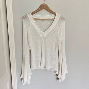 Free People Bell Sleeve Blouse
